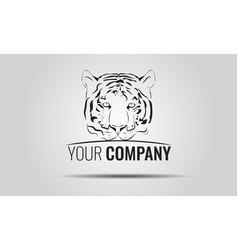 Vintage tiger logotype or mascot emblem symbol vector
