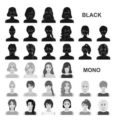 Women clothing black icons in set collection for vector