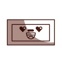 Wooden drawer kawaii character vector