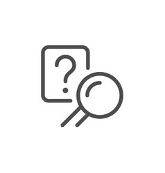 answer search line icon vector image