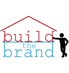 Build Business Brand promotion person vector image
