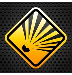 Explosion warning sign vector image vector image