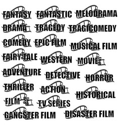 genres of cinema vector image