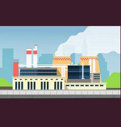 industrial factory building construction exterior vector image