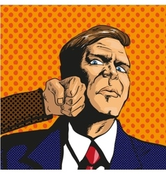 man facing difficulties in vector image vector image