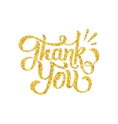 Thank You lettering isolated on white vector image vector image