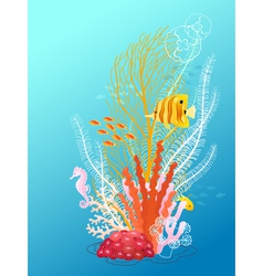 Underwater bouquet vector image