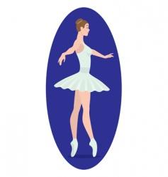 ballerina figure vector image