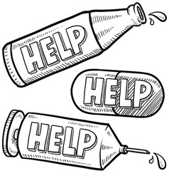 Drugs and alcohol help vector image