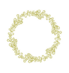 isolated abstract round wreath shape natural vector image