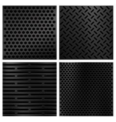 Kevlar fiber carbon textures set vector image