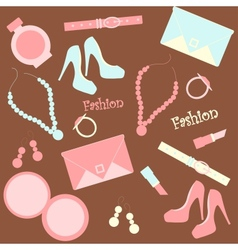 seamless fashion background vector image