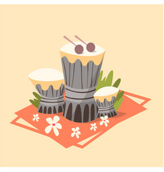 tamtam icon summer sea vacation concept summertime vector image vector image