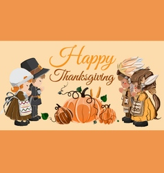 Thanksgiving day Characters vector image vector image