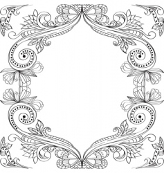 card with vintage floral ornament vector image vector image