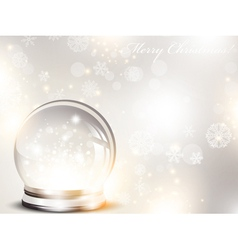christmas and new year glass ball vector image