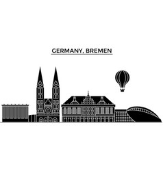 germany bremen architecture city skyline vector image
