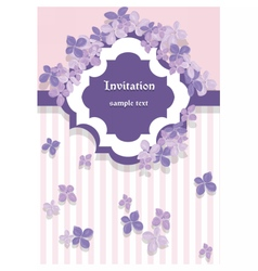 Vintage floral lilac card vector