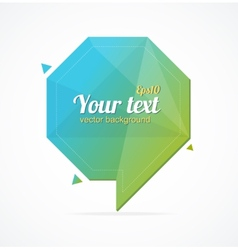 Abstract paper speech bubble and text vector image vector image