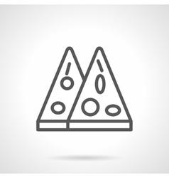 Mexican pizza black line icon vector image