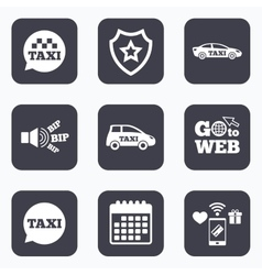 Public transport icons Taxi speech bubble signs vector image vector image