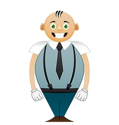shorty office man vector image vector image