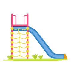 sliding board on playground vector image vector image