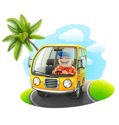 trip on a car vector image