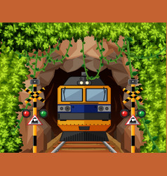 a train at tunnel vector image