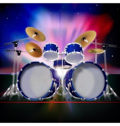 Abstract music background with sunrise and drum vector