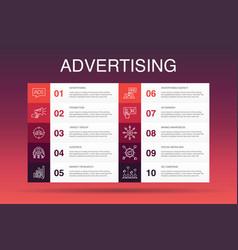 Advertising infographic 10 option templatemarket vector