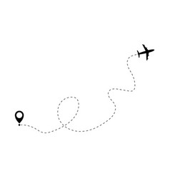airplane way icon background vector image