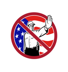 American border security no entry sign vector