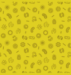 Bacteria and viruses seamless pattern vector