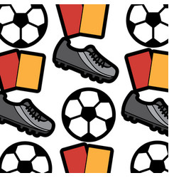 ball cleat cards football soccer pattern image vector image