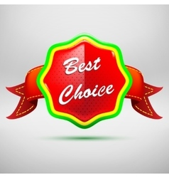 Best choice red label - icon isolated on white vector image
