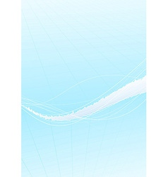 Blue folder design template - wave vector