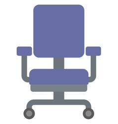 Blue office chair vector