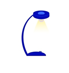Blue table lamp vector image