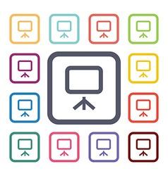 board flat icons set vector image