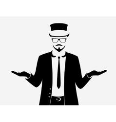 Businessman web icon vector