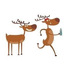 Cartoon deer character vector