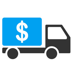 cash delivery car flat icon vector image