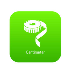 centimeter icon green vector image