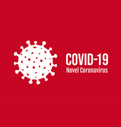 coronavirus sign poster isolated red background vector image