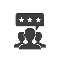 customer review icon on white vector image