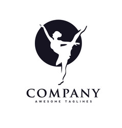 Dance club logo vector