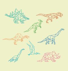 Dinosaur with polygonal or triangle geometric vector