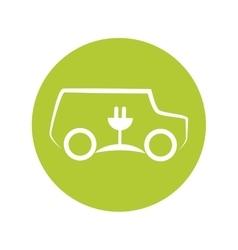 Eco car symbol isolated icon vector