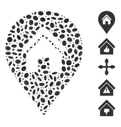 Ellipse collage realty map marker vector